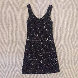 """Black """"Amber Blue"""" sequins dress"""
